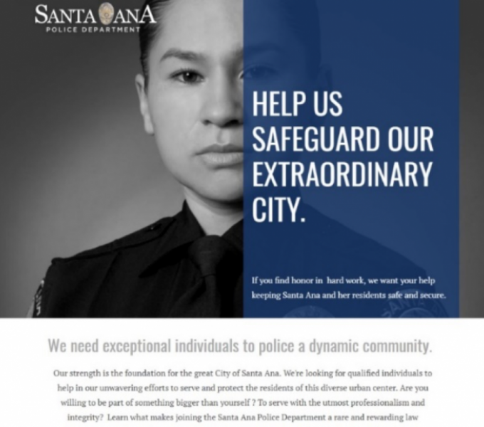 Santa Ana Police Department Recruitment Marketing image